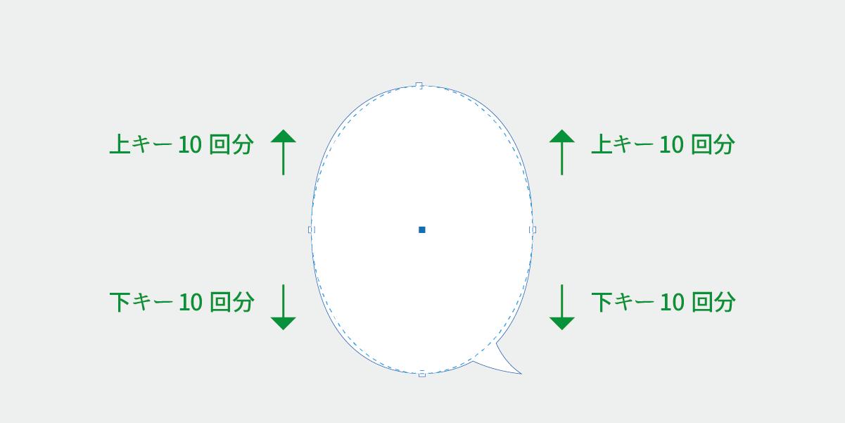 吹き出しの形を調整する説明画像