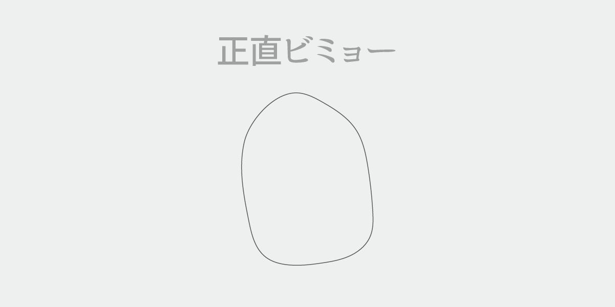 鉛筆ツールで描いた楕円のいびつさの説明図