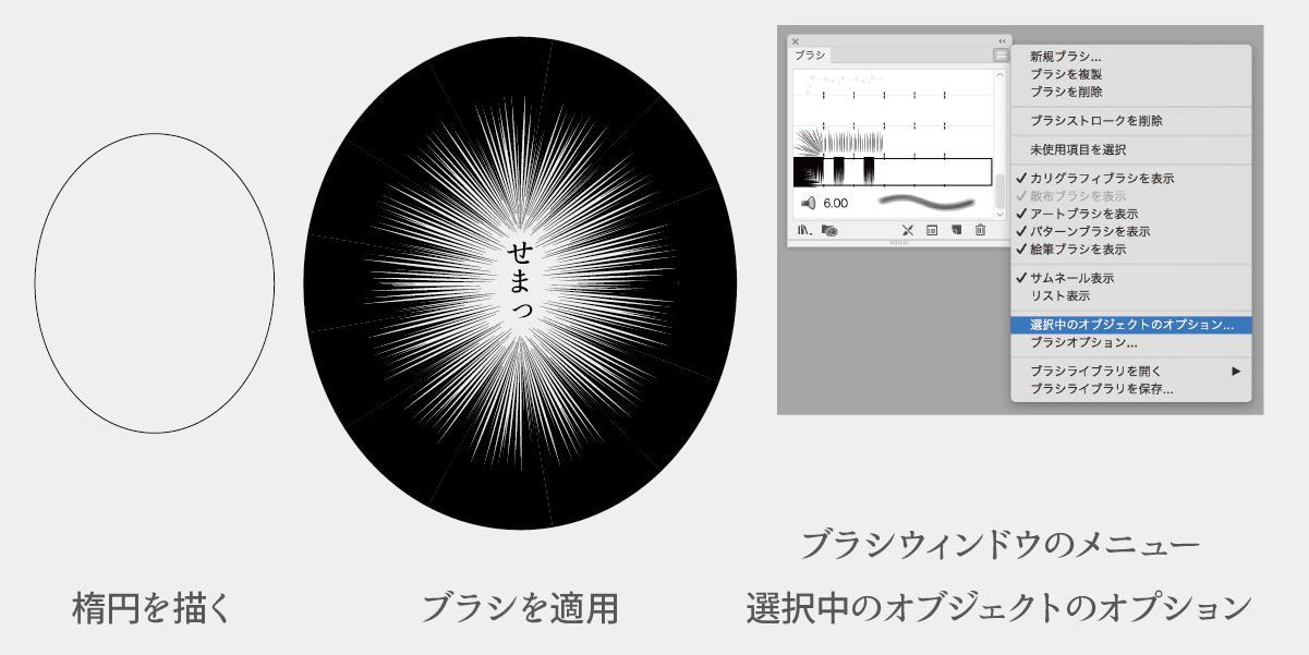 ブラシストロークを調整する説明画像