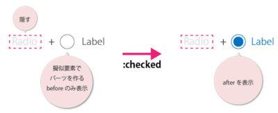 CSSでのラジオボタン・チェックボックスのカスタマイズを詳しく