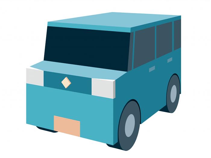 イラレの遠近グリッドで3D風のイラストを描く方法「車編」